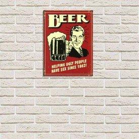 Placa Decorativa em MDF Cerveja Vintage Oldschool