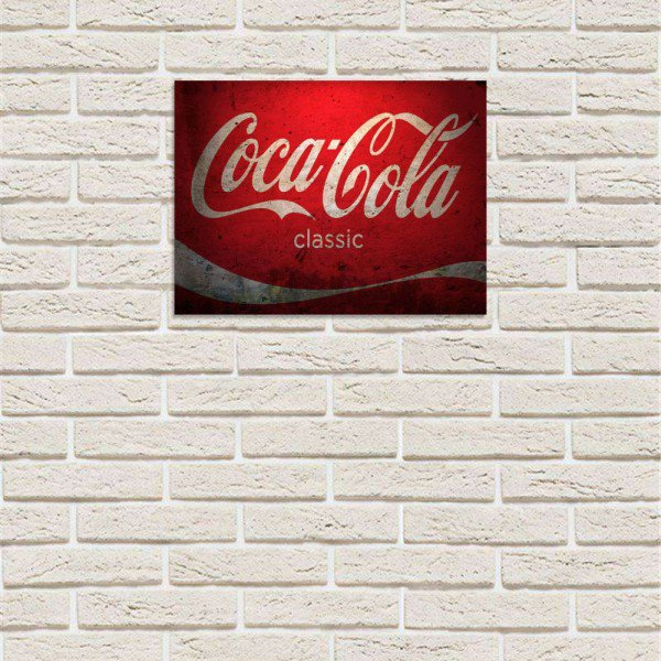 Placa Decorativa em MDF Coca Cola Classic