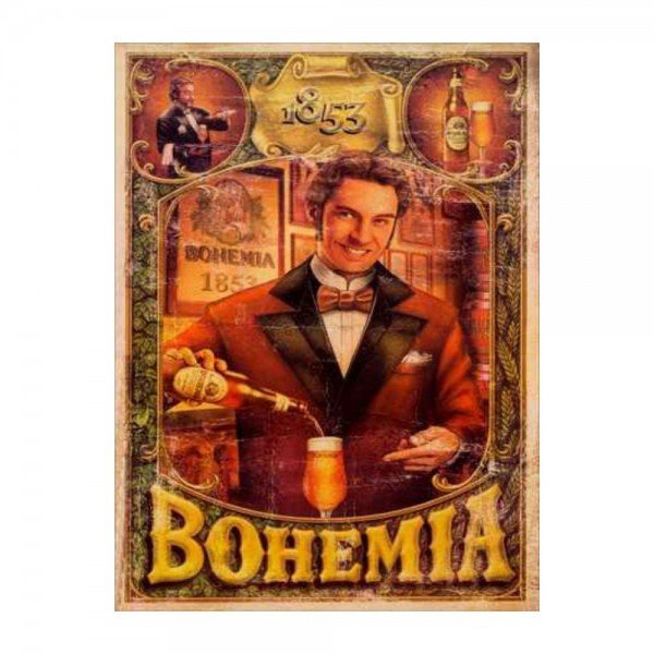 Placa Decorativa em MDF Cerveja Bohemia Oldschool