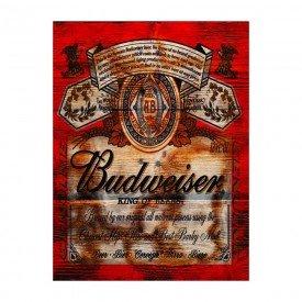 Placa Decorativa em MDF Cerveja Budweiser Oldschool Antigo