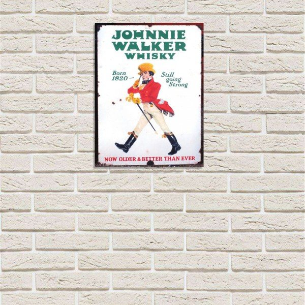 Placa Decorativa em MDF Johnnie Walker Whisky