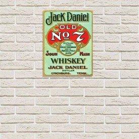 Placa Decorativa em MDF Jack Daniels Propaganda Antiga