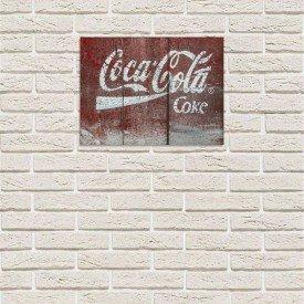 Placa Decorativa em MDF Madeira Coca Cola Coke Antiga