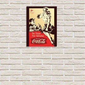 Placa Decorativa em MDF Propaganda Antiga Coca Cola Back in Old Days