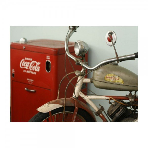 Placa Decorativa em MDF Old Bike Coca Cola