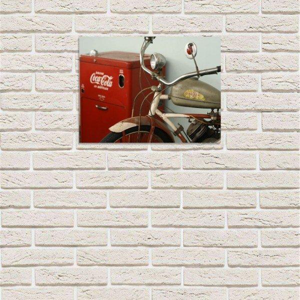 Placa Decorativa em MDF Old Bike Coca Cola