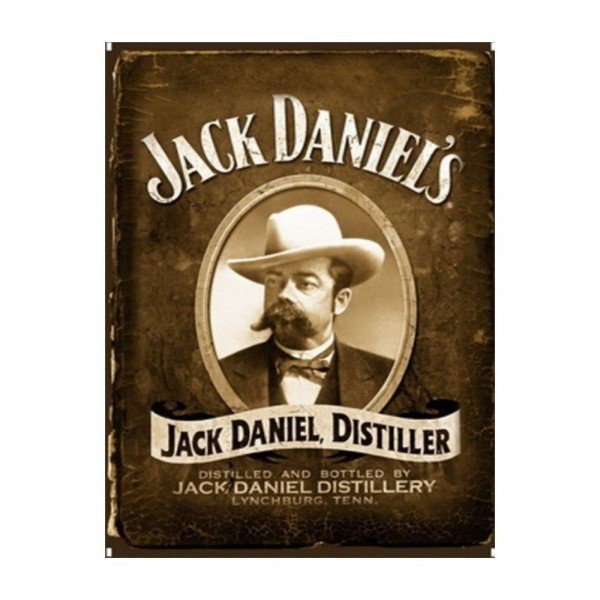 Placa Decorativa em MDF Jack Daniels Distiller