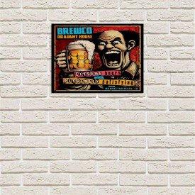 Placa Decorativa em MDF Crazy Beer Desenho