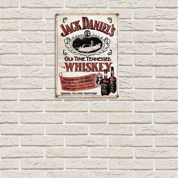 Placa Decorativa em MDF Whiskey Jack Daniels Antigo Oldschool