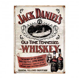 Placa Decorativa em MDF Whiskey Jack Daniels Antigo Oldschool