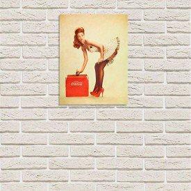 Placa Decorativa em MDF Propaganda Vintage Coca Cola Oldschool