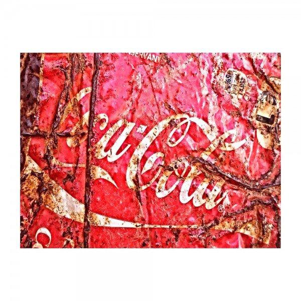 Placa Decorativa em MDF Envelhecida Cola Cola