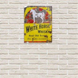 Placa Decorativa em MDF White Horse Whisky