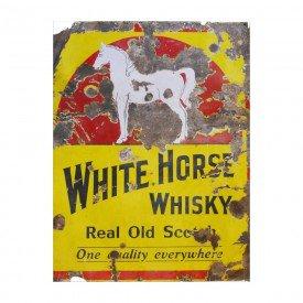 Placa Decorativa em MDF White Horse Whisky