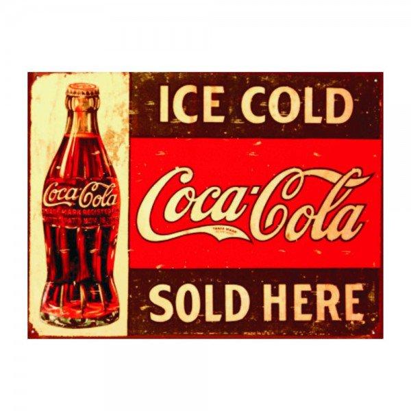 Placa Decorativa em MDF Ice Cold Coca Cola