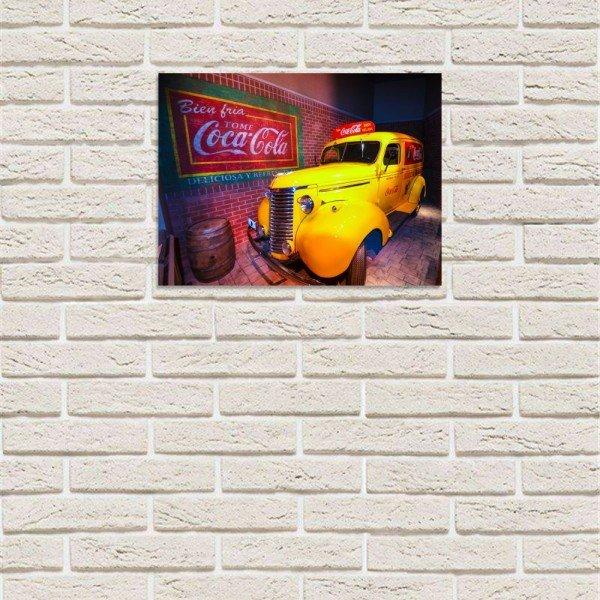 Placa Decorativa em MDF Taxi Oldschool Coca Cola