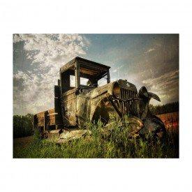 placa decorativa em mdf carro antigo farm abandonado
