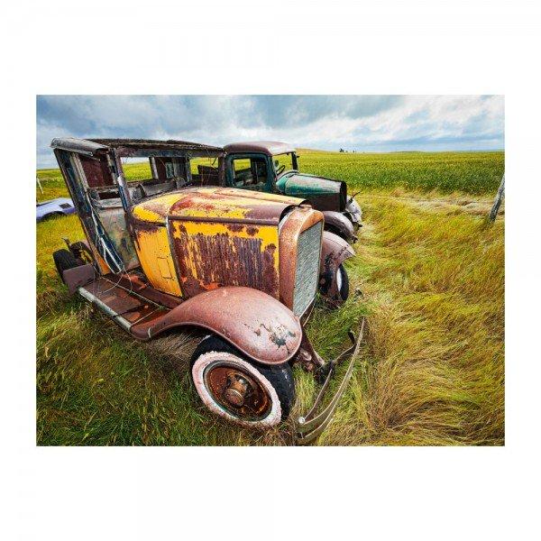 placa decorativa em mdf carros antigos abandonado