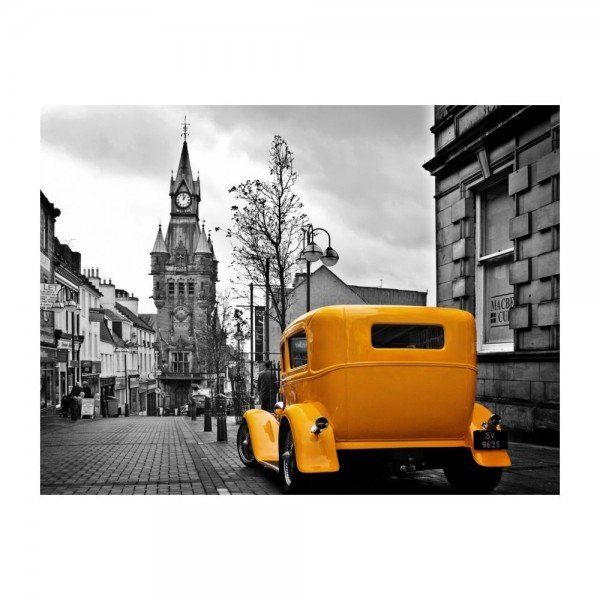 placa decorativa em mdf europe yellow car