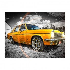 placa decorativa em mdf carro antigo speed amarelho