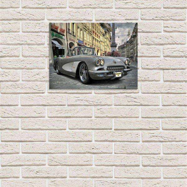 placa decorativa em mdf carro de luxo animado com fundo