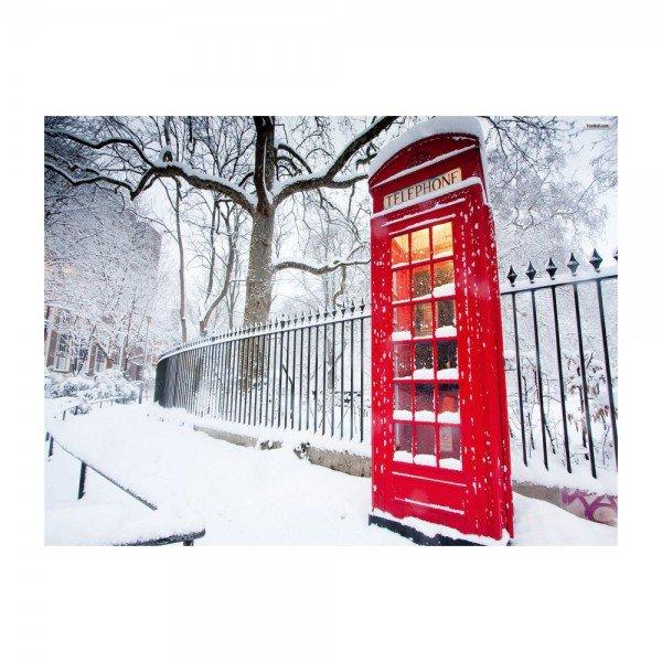 placa decorativa em mdf cabine de telefone londres neve