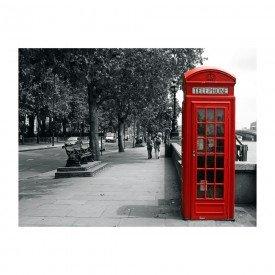 placa decorativa em mdf cabine de telefone vermelho europa