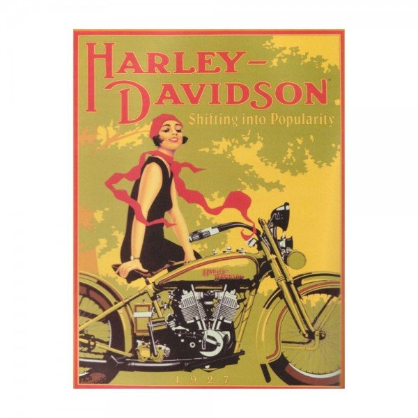 placa decorativa em mdf harley davidson oldschool bike retro