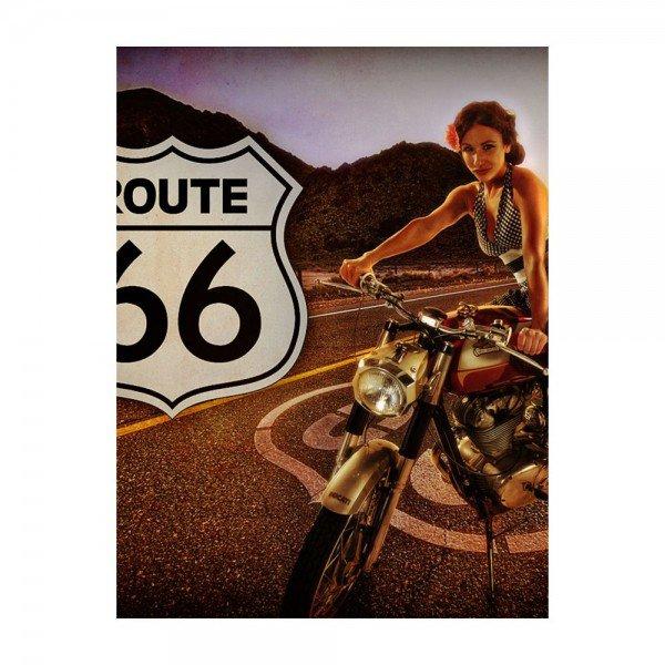 placa decorativa em mdf route 66 oldschoo bike