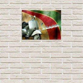 placa decorativa em mdf vintage vespa com fundo