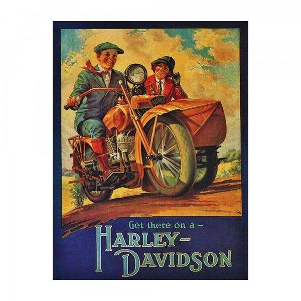 placa decorativa em mdf harley davidson propaganda oldschool