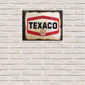 Placa Decorativa em MDF Texaco Antigo Vintage