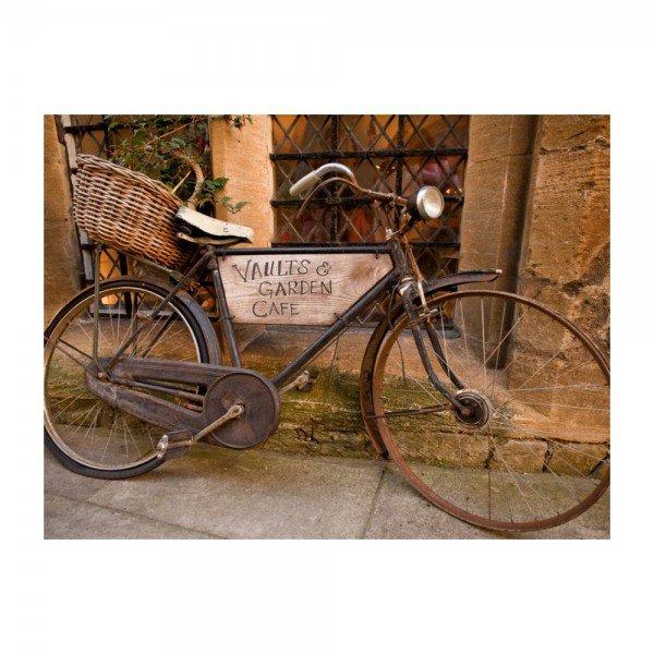 Placas Decorativas em MDF Bicicleta Antiga com Cesto