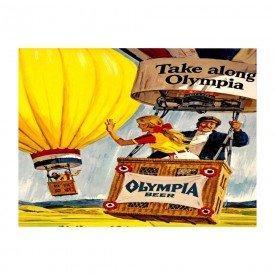 Placas Decorativas em MDF Olympia Propaganda Antiga Balão de Ar Quente