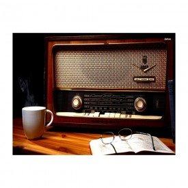 Placas Decorativas em MDF Radio Antigo