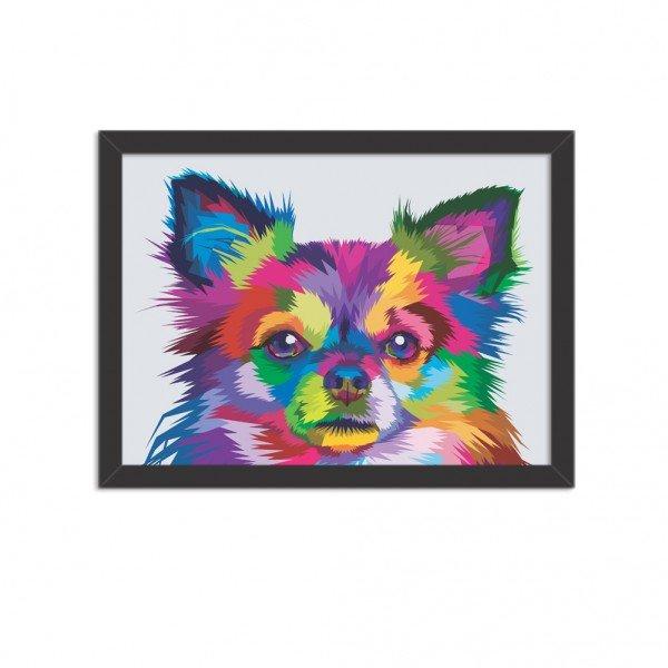 Quadro Decorativo Animal Meu Melhor Amigo Cachorro Abstrato