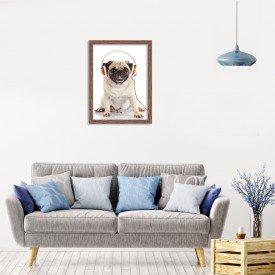 Quadro Decorativo Animal Meu Melhor Amigo Cachorro de Fone
