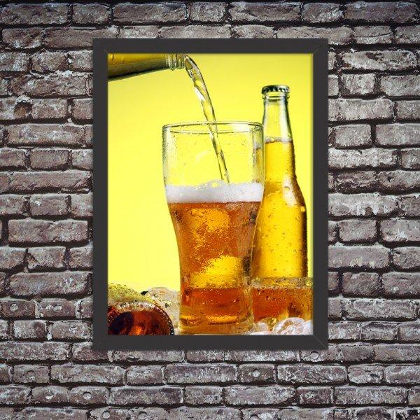 Quadro Decorativo Cerveja Gelada No Ponto