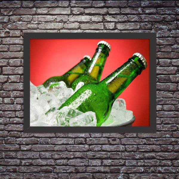 Quadro Decorativo Garagem Balde de Cerveja Gelada