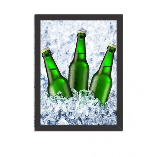 Quadro Decorativo Garagem Cerveja No Gelo