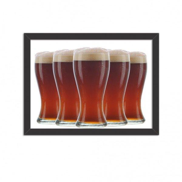 Quadro Decorativo Garagem Copos de Cerveja Geladas