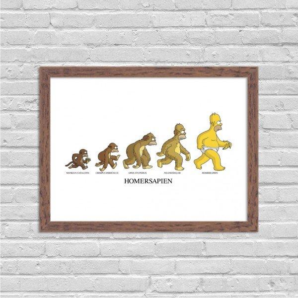 Quadro Decorativo Evolução Homem Simpson