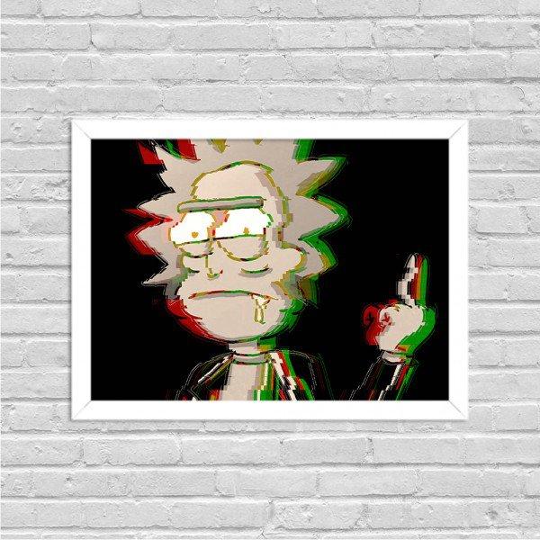 Quadro Decorativo Série de TV Rick Punk Rick and Morty