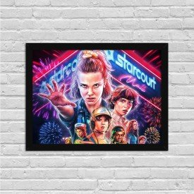 Quadro Decorativo Séries de TV Stranger Things 3 Temporada