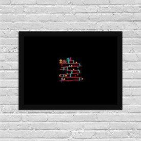 Quadro Decorativo Gamer Donkey Kong Abstrato