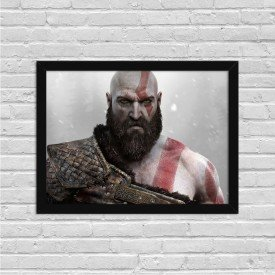 Quadro Decorativo Gamer God of War