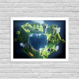 Quadro Decorativo Gamer Minecraft World