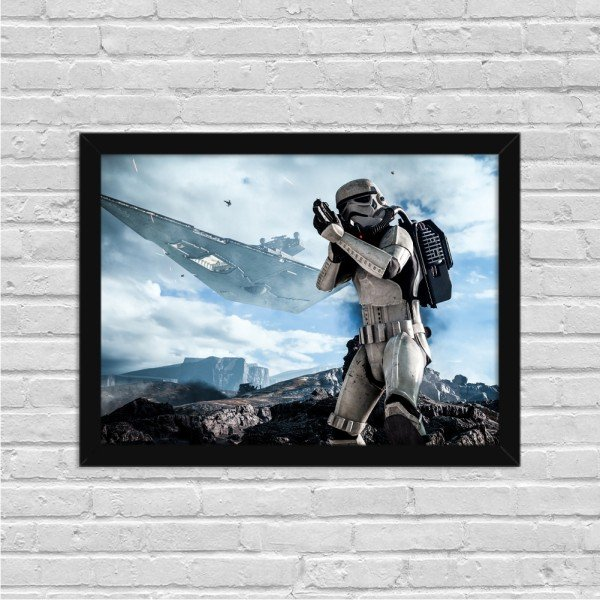 Quadro Decorativo Gamer Stormtrooper
