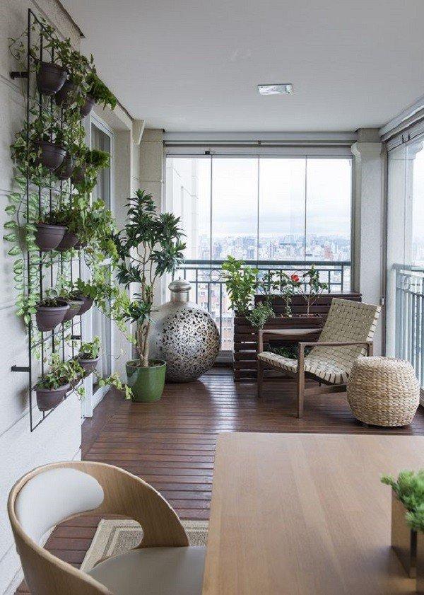 varanda grnade fechada verdes