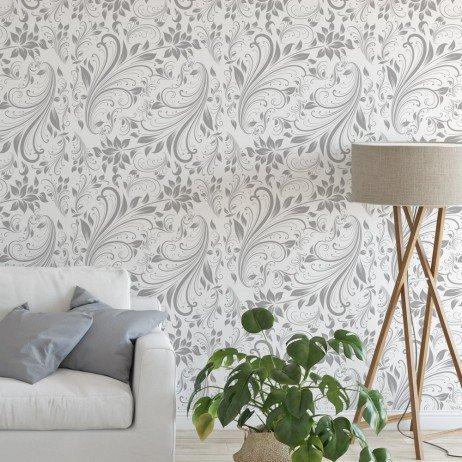 papel de parede floral prego e martelo
